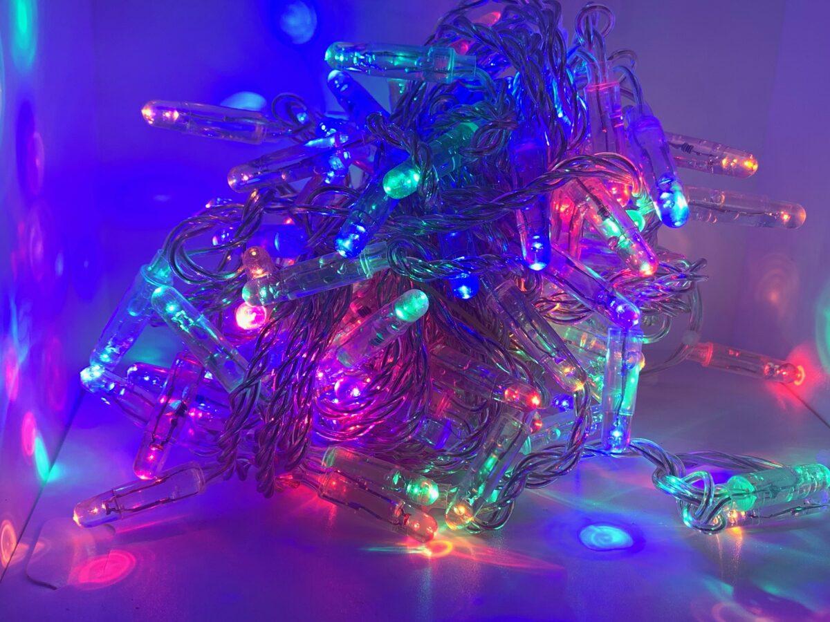 10m krāsaina LED virtene
