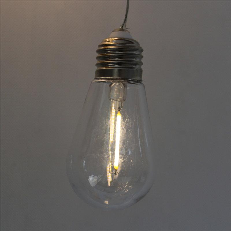 3m LED solar virtene ar lielām spuldzēm