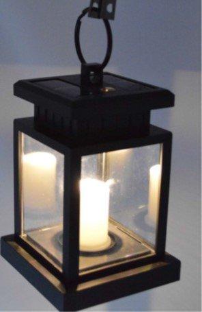 LED laterna ar saules baterijām