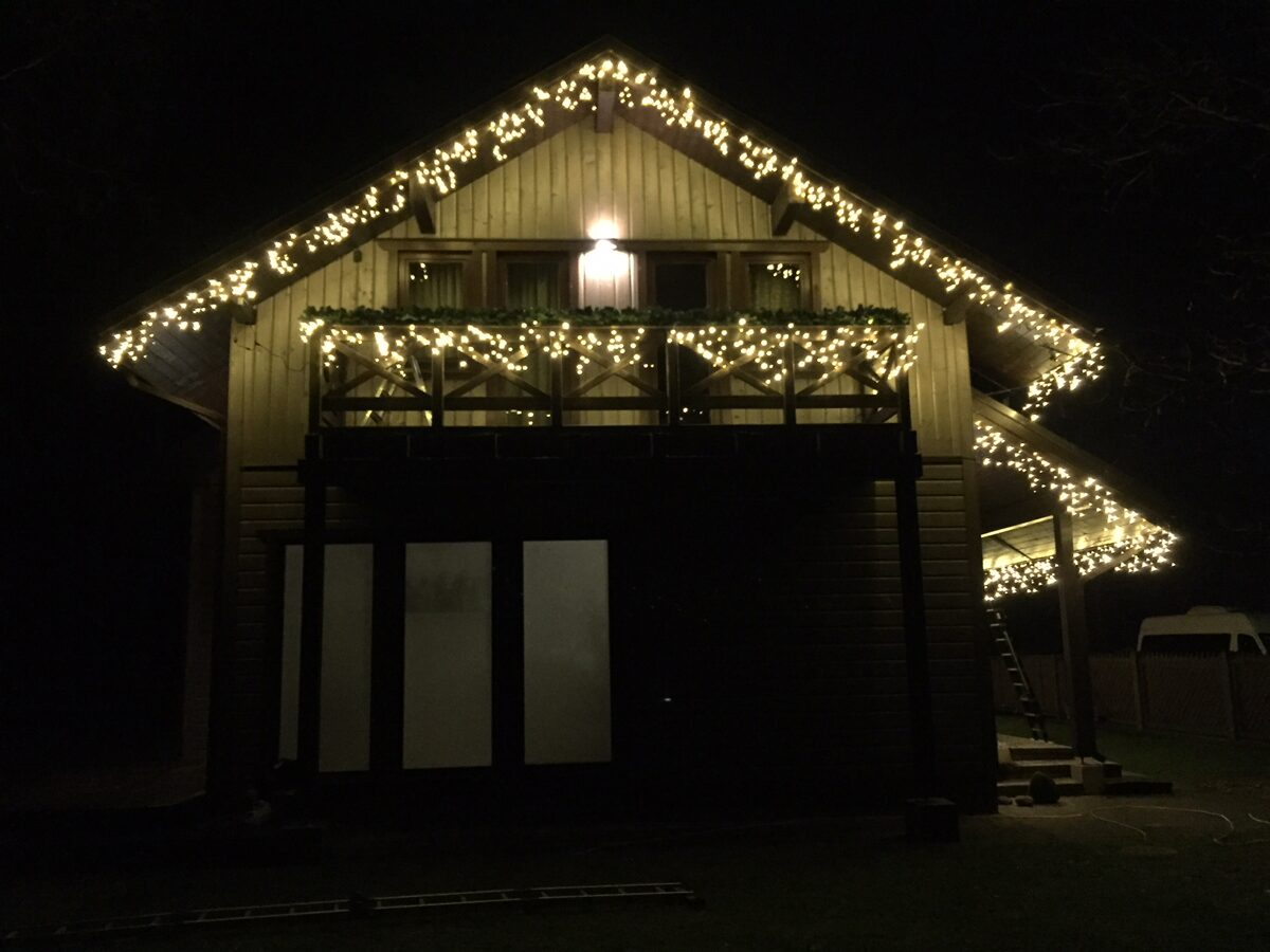 "LED lampiņu virtene ""lāstekas"""