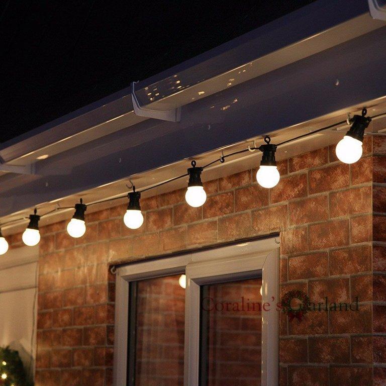 10m LED virtene G50 ar apaļām spuldzēm